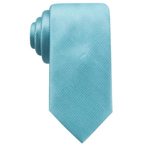 Ryan Seacrest Distinction Men's Durham Slim Solid Tie  Aqua Size Regular