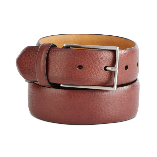 Tasso Elba Men's Textured Belt Brown Size Medium
