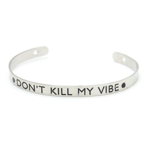 Stainless Steel Inspirational Bangle