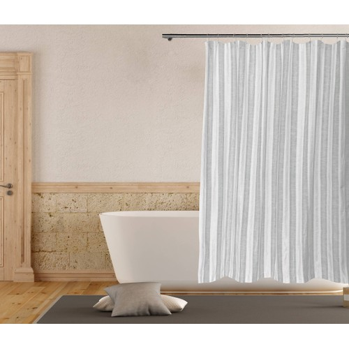 Rhett Striped Cotton Shower Curtain