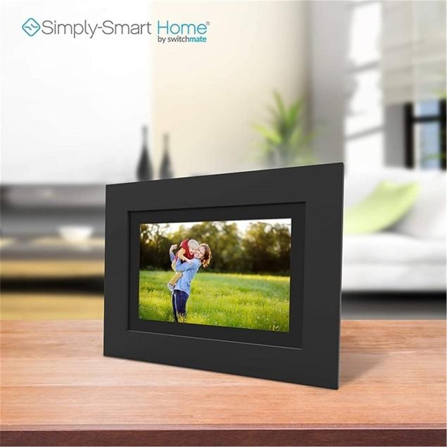 "SimplySmartHome PhotoShare Smart Frame 8"", Black (Certified Refurbished)"