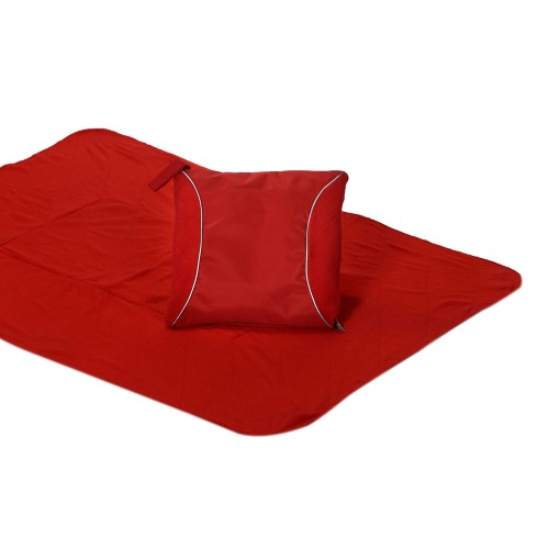 Picnic Plus Fleece Blanket Cushion Red