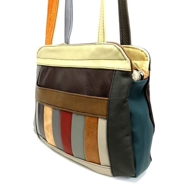 Leather Shoulser Bag Multi Color Purse For Women