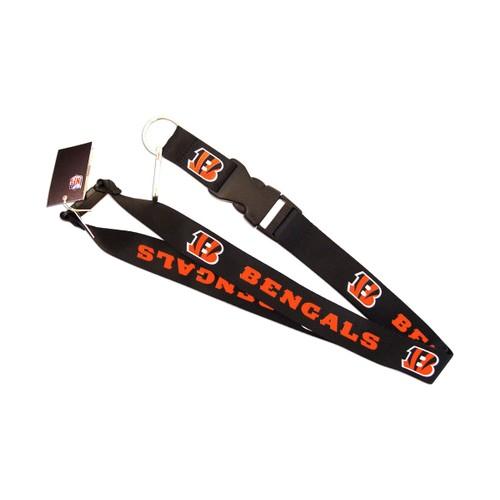 NFL Lanyard Keychain Batch Id Holder Cincinnati Bengals - Black