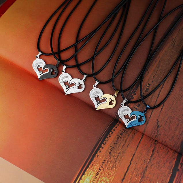 Pull Apart Heart Necklace