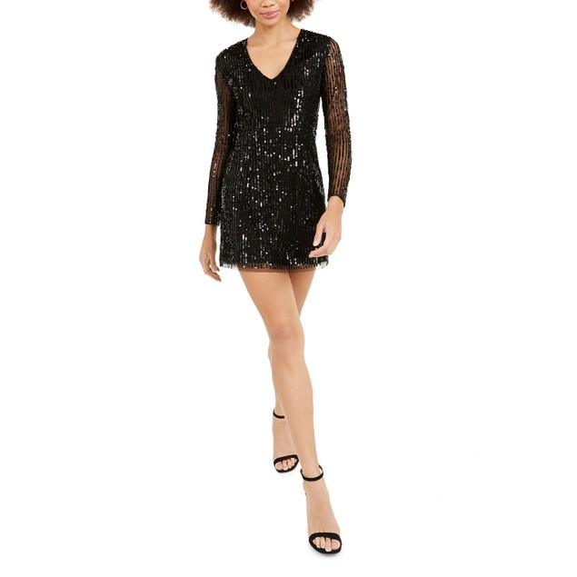 French Connection Women's Inari Embellished Dress Black Size 2