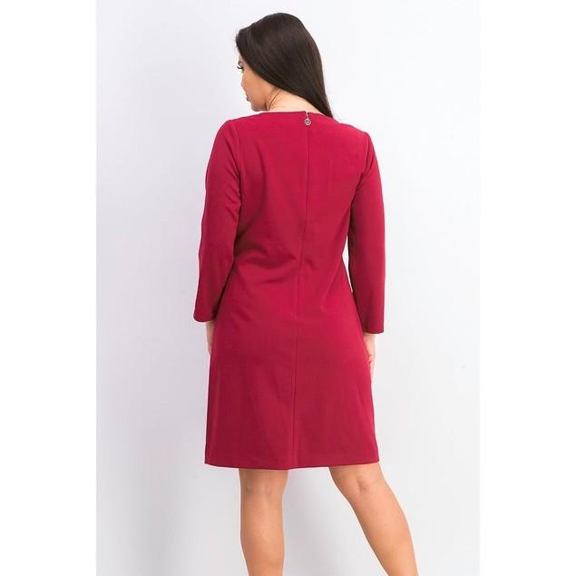 Tommy Hilfiger Women's Grommet-Neck Shift Dress Dark Red Size 4