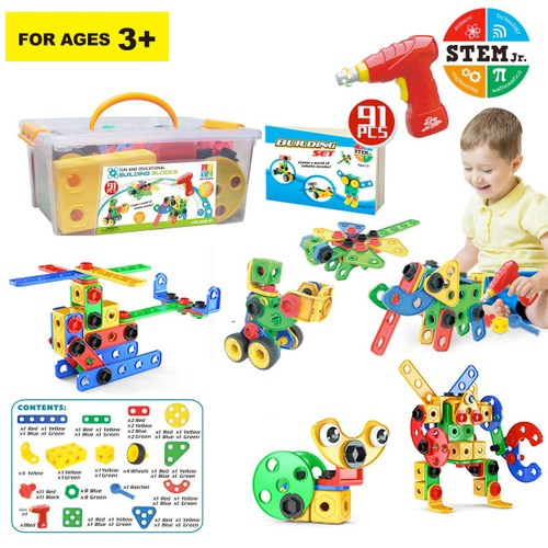 Zunammy  Educational Construction Building Sets Toys for Kids  ( 91 Pieces )