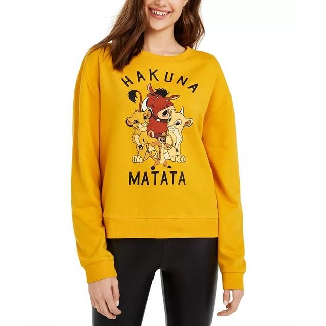 Disney Junior's Hakuna Matata Graphic Print T-Shirt Dark Yellow Size Small