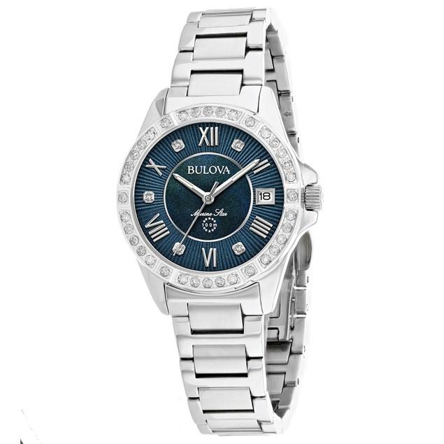 Bulova Women's Marine Star Blue Dial Watch - 96R215