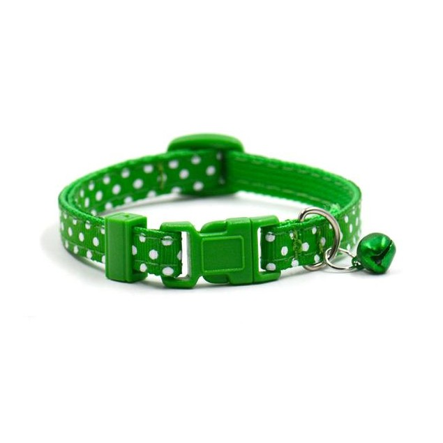 Polka Dot Small Dog/Cat Pet Collar with Bell - Assorted Colors