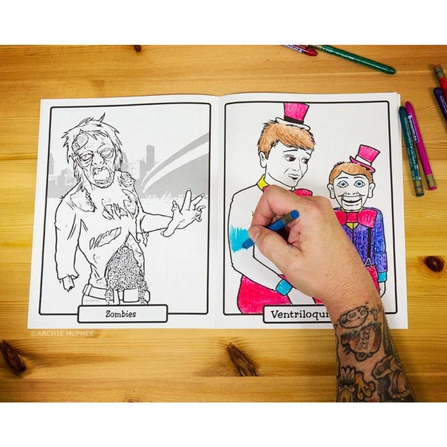 Super Awesome Coloring Book Activity Adult Funny Bigfoot Abraham Lincoln