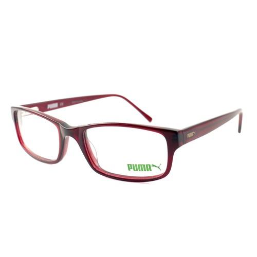 Puma Eyeglasses Women Clear Red Full Rim Rectangle 54 19 140 PE0021O 003