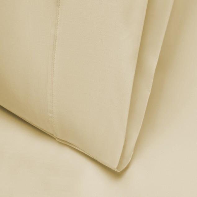 Silky Tencel Blend Full/Queen Pillowcase Set With Button Closure