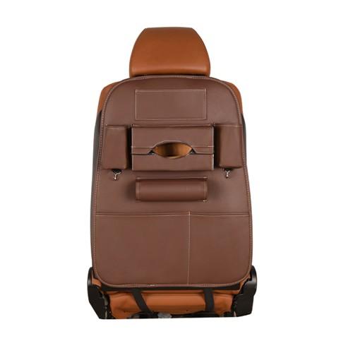 Karma Baby Multipocket Universal PU Leather Car Seat Back Storage Bag Brown