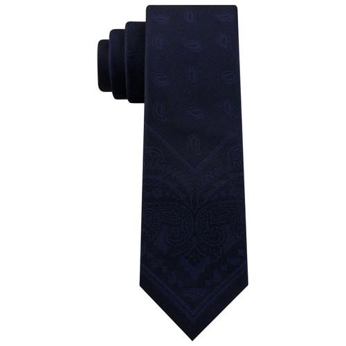 Tommy Hilfiger Men's Slim Tonal Paisley Panel Tie Navy Size Regular