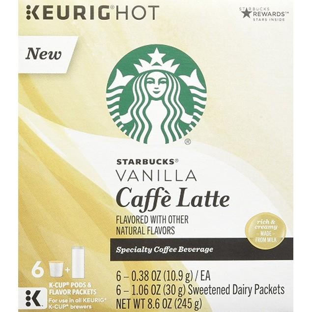 Starbucks Vanilla Caffe Latte Keurig K-Cups