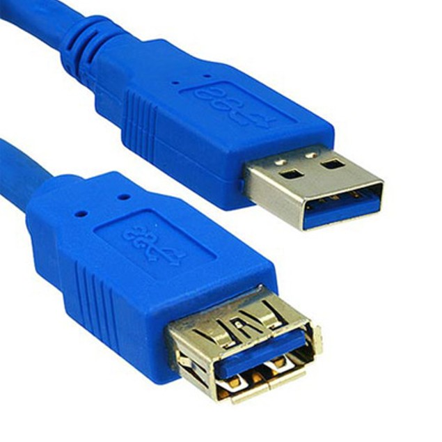 USB 3.0 Extension Cable, Blue, Type A Male / Type A Female, 3 foot