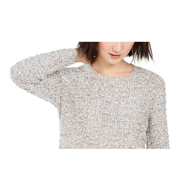 Style & Co Women's Striped Sweater Gray Size Large