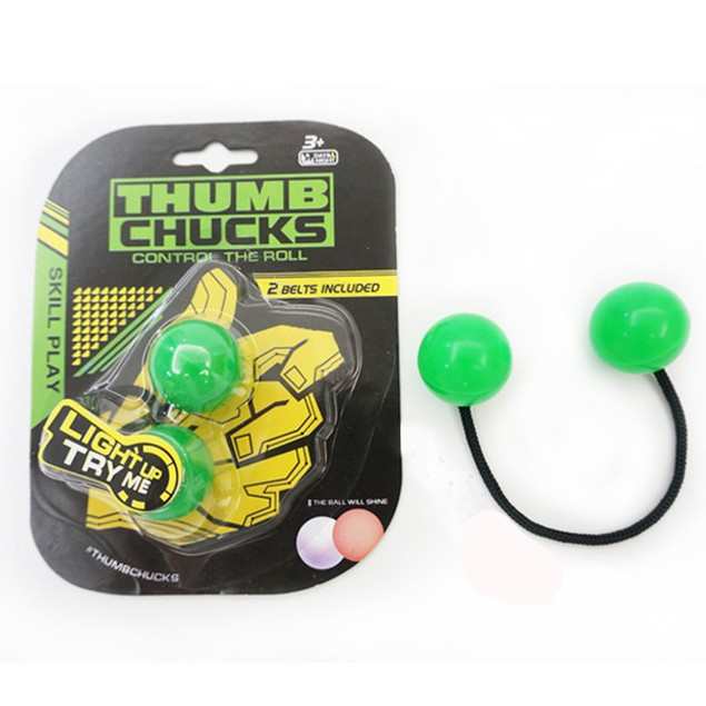 Thumb Chucks Bundle Control Roll Game Knuckles Finger Ball Anti Stress Toy