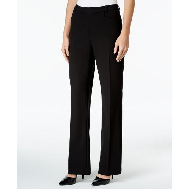 Tommy Hilfiger Women's Modern Straight Leg Modern Dress Pants Black Size 10