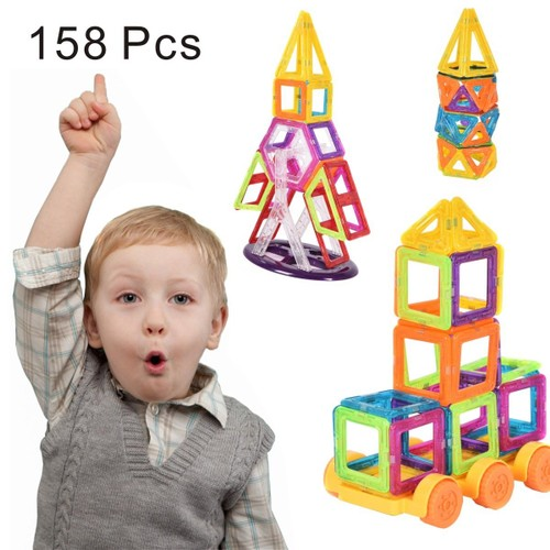 Costway 158 Pcs Magical Magnet Building Block Educational Toy For Kids Colo