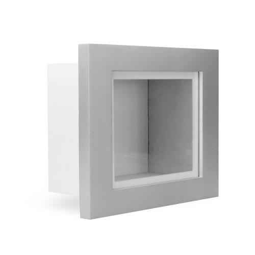 "MandW 3D Box Frame Silver 10"" x 8"""