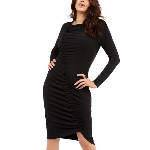 Thalia Sodi Women's Ruched Sheath Dress Black Size X-Small