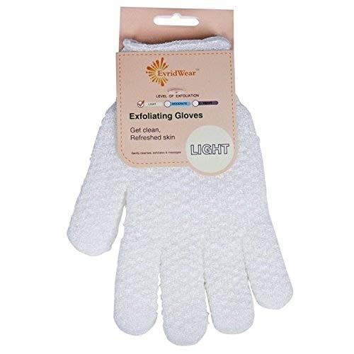 EvridWear Gentle Exfoliating Hydro Bath light Gloves for Shower and Bath