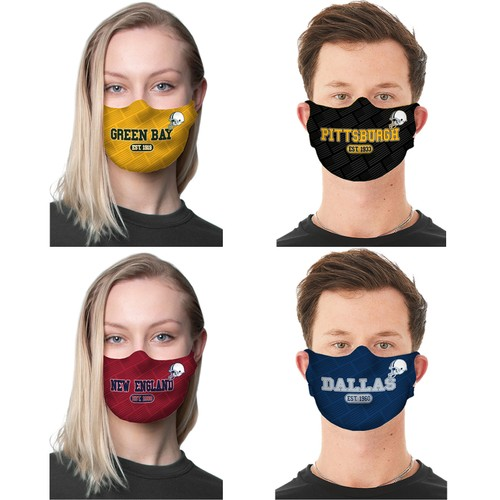 2-Pack Unisex Awesome Football Reusable Fabric Masks