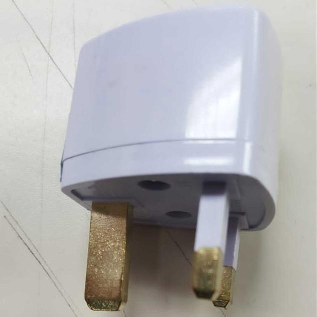 Universal UK Flat Pin 3Pin Travel Power Plugs - White