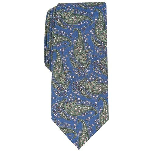 Bar III Men's Sorrento Skinny Paisley Tie Green Size Regular