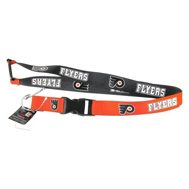 Philadelphia Flyers Reversible Lanyard Keychain Badge Holder NHL