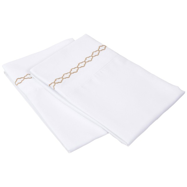 Embroidered CLOUDS Pillowcases, 2-Piece, Wrinkle Free Microfiber,12 Colors