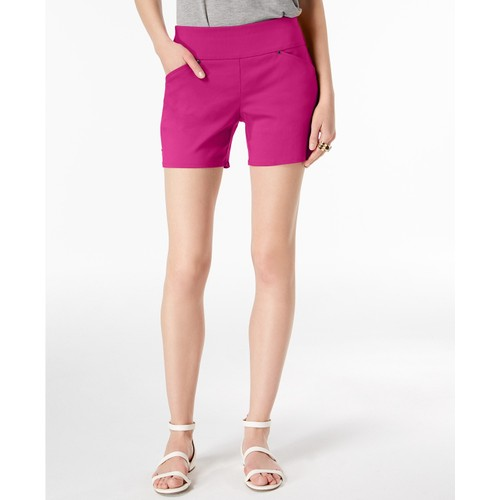 INC International Concepts Women's Curvy Pull-On Shorts Pink Size 4