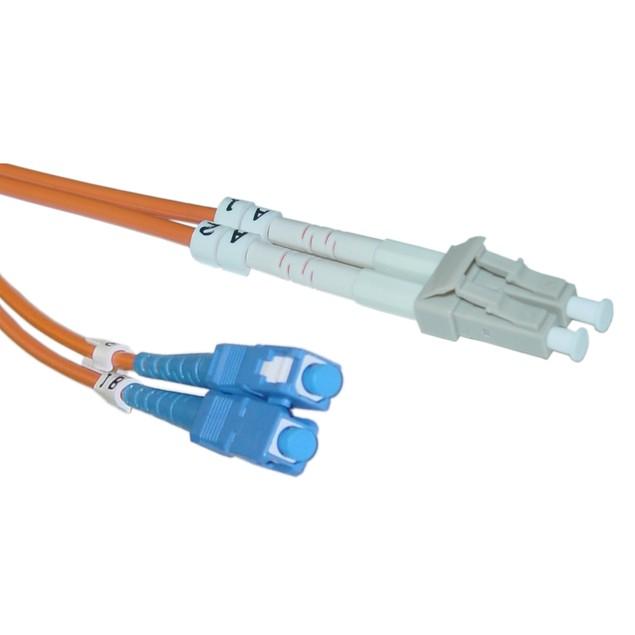 Fiber Optic Cable, LC / SC, Multimode, Duplex, 62.5/125, 2 meter (6.6 foot)