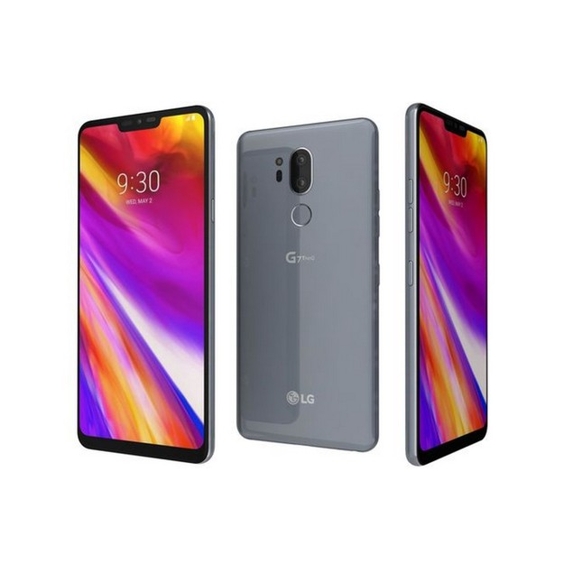 LG G7 ThinQ, Unlocked, Gray, 64 GB, 6 in Screen