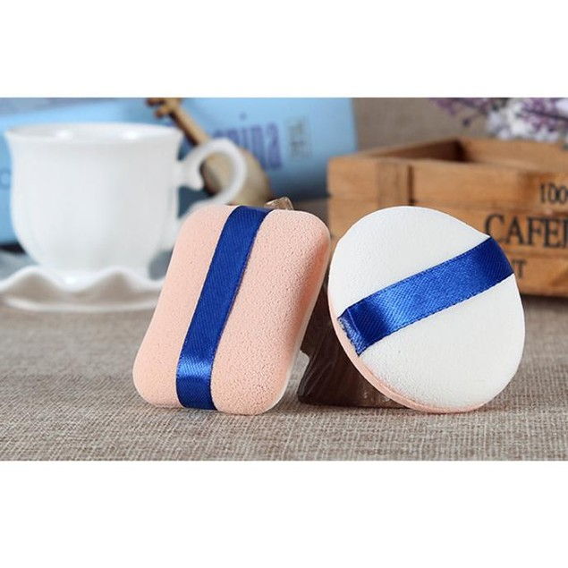 2PCS Makeup Foundation Beauty Cosmetic Facial Face Sponge Powder Puff