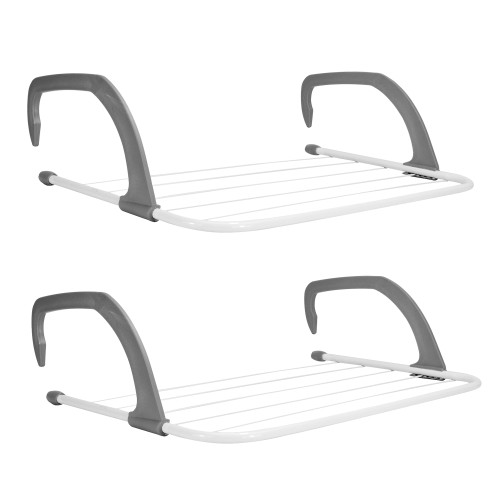 Set of 2 Radiator Clothes Airers | MandW