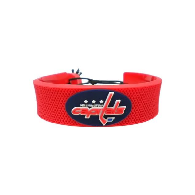 Washington Capitals Team Color NHL Gamewear Leather Hockey Bracelet