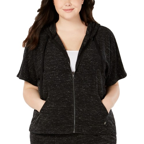 Ideology Women's Cropped Hoodie Black Size Extra Small