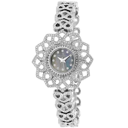Christian Van Sant Women's Chantilly Black MOP Dial Watch - CV4813