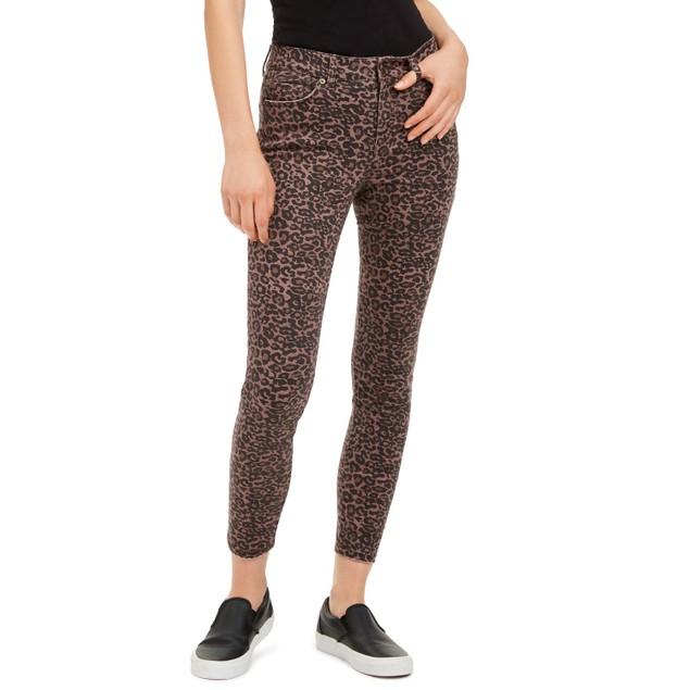 Rewash Juniors' Printed Skinny Jeans Purple Size 9