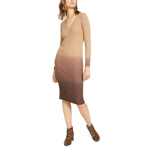 INC International Concepts Women's Ombre Sweater Dress Brown Size Medium