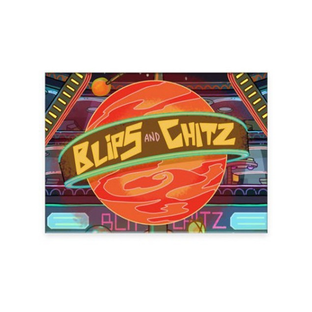 Rick and Morty Blips and Chitz Flat Magnet Justin Roiland Dan Harmon