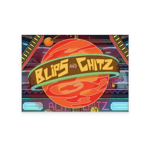 Rick and Morty Blips and Chitz Flat Magnet Justin Roiland Dan Harmon