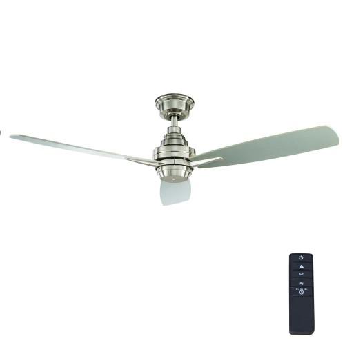 Home Decorators Samson Park Indoor Nickel Ceiling Fan w/ Remote Control,