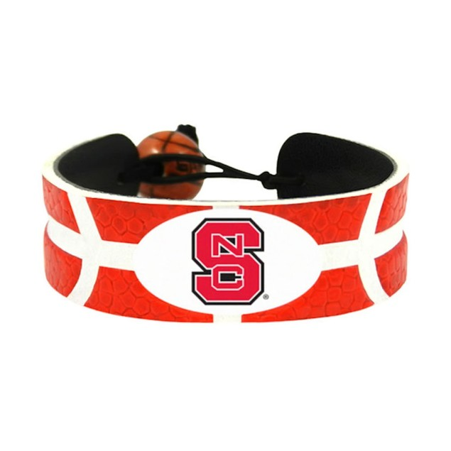 NC State Wolfpack Team Color NCAA Gamewear Leather Basketball Bracelet