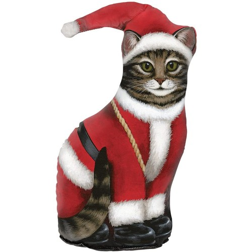 Fiddler's Elbow Santa Claus Cat Door Stop, Door Stopper, Interior