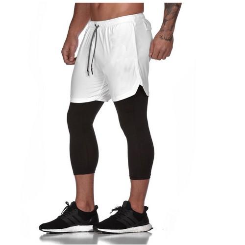 Men's Fitness Running Shorts / 2 In 1